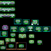 几十个小高层住宅楼户型方案图