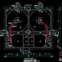 污水厂高效沉淀池结构设计CAD施工图
