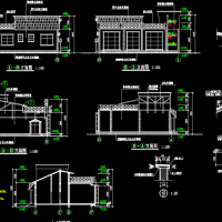 某地茶馆设计建筑图