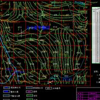 土地整理项目规划设计图(梯田 渠道 水窖 农桥)