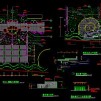 杭州市某绿地景观及中心广场建筑规划图