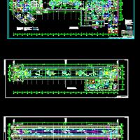 地铁站台层及站厅层CAD图纸