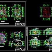 11.1X16.1二层别墅土建工程量计算及预算书(附全套图纸)