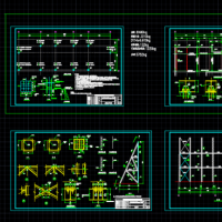 典型屋顶广告牌结构图(含结构说明)