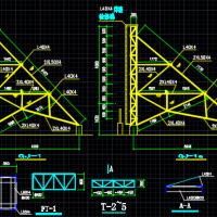 屋顶钢结构广告牌结构设计施工图纸