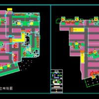 房地产地库车位销控CAD彩图
