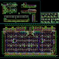 地下一层大型地库设计图纸
