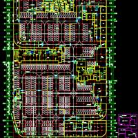 12485平米地下一层车库建筑设计施工图纸