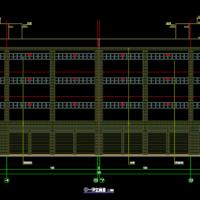 商贸物流园零担仓库及副食仓库建筑及结构设计图