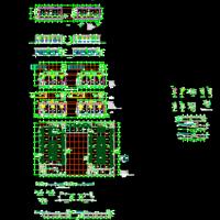 6234平米地下一层汽车库建筑设计图纸(带地上商业)