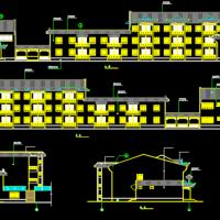 仿古宾馆建筑设计施工图纸