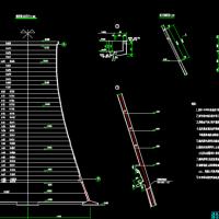 400平方米双曲线冷却塔工艺图纸