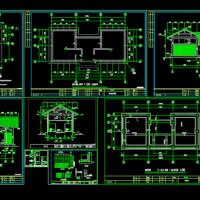 某公园景观厕所建筑结构图(带残卫)