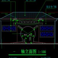 三套公园公厕建筑图