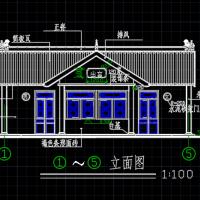 某坡屋顶公厕建筑施工CAD图