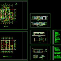 某地公厕建筑设计CAD图(共7张)