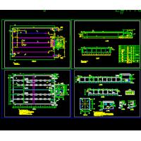 无梁楼盖清水池结构设计CAD施工图