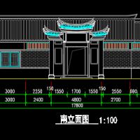 某景区公厕建筑方案图