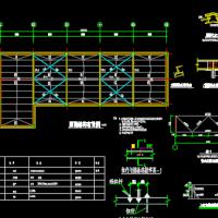9m跨钢结构鸡舍设计图(三角钢屋架)