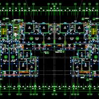 贵州某18层住宅楼建结水电暖全套图