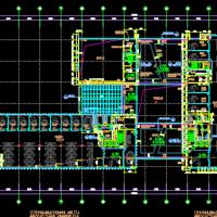 21968平米五层框架结构办公楼建结水电暖全套图