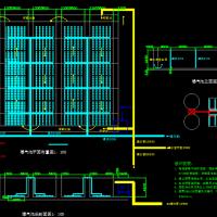 传统推流式曝气池CAD设计图纸