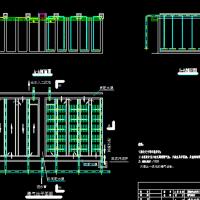 折叠廊道式推流曝气池CAD课设图纸