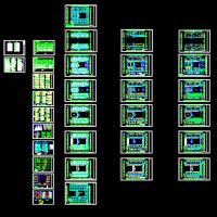 17289平米5层框架结构教学楼电气设计图