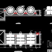 村镇生活污水处理厂一体化生物转盘毕业设计图纸