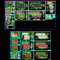 某地库结构设计图纸(网梁楼盖)