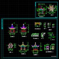 木结构六角亭施工图