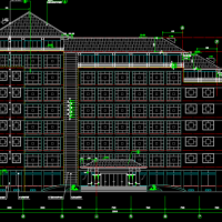 7层法院办公楼建筑施工图