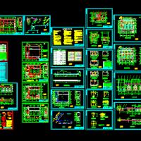 甘肃10t锅炉房设备施工全套图34张