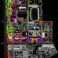 西安建筑科技大学总平面图(CAD版)