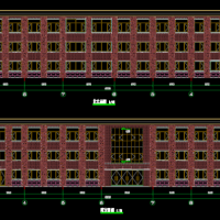 1984平米某县城石头村文化礼堂建筑设计施工图