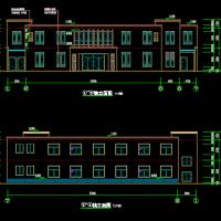 浙江某文化礼堂及附属建筑设计图纸(1068平米)