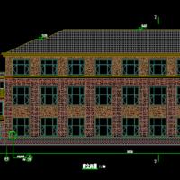 2146平米坡屋顶三层文化礼堂建筑设计图