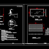 道路声屏障设计图纸(消音挡板)