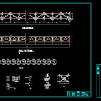 35m跨钢结构管道廊架设计图