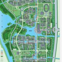 江南大学蠡湖校区总平面规划图(彩平效果CAD图及说明)