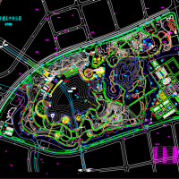 上海浦东中央公园规划设计CAD总平面图