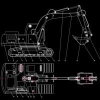 挖掘机CAD图块