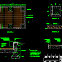 防腐木休息平台CAD图纸