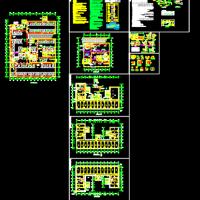 高层办公楼通风防排烟设计施工图(含地库人防设计)