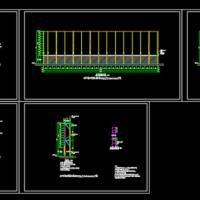 LED大屏幕结构及安装节点图
