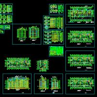 6层住宅楼设计图(坡顶建筑)