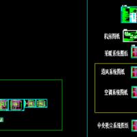 三层高档别墅暖通空调设计图(地源热泵,燃气锅炉,中央吸尘)