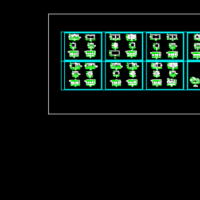 5套集装箱建筑CAD图纸(临建板房)