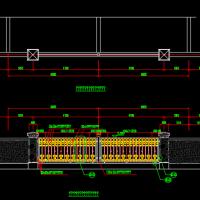 小区围墙铁艺栏杆竣工图