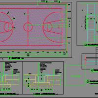 篮球场平面设计施工图
